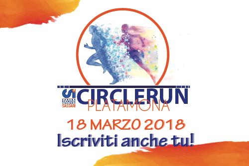 CSI Circle Run - A Platamona il 18 marzo 2018