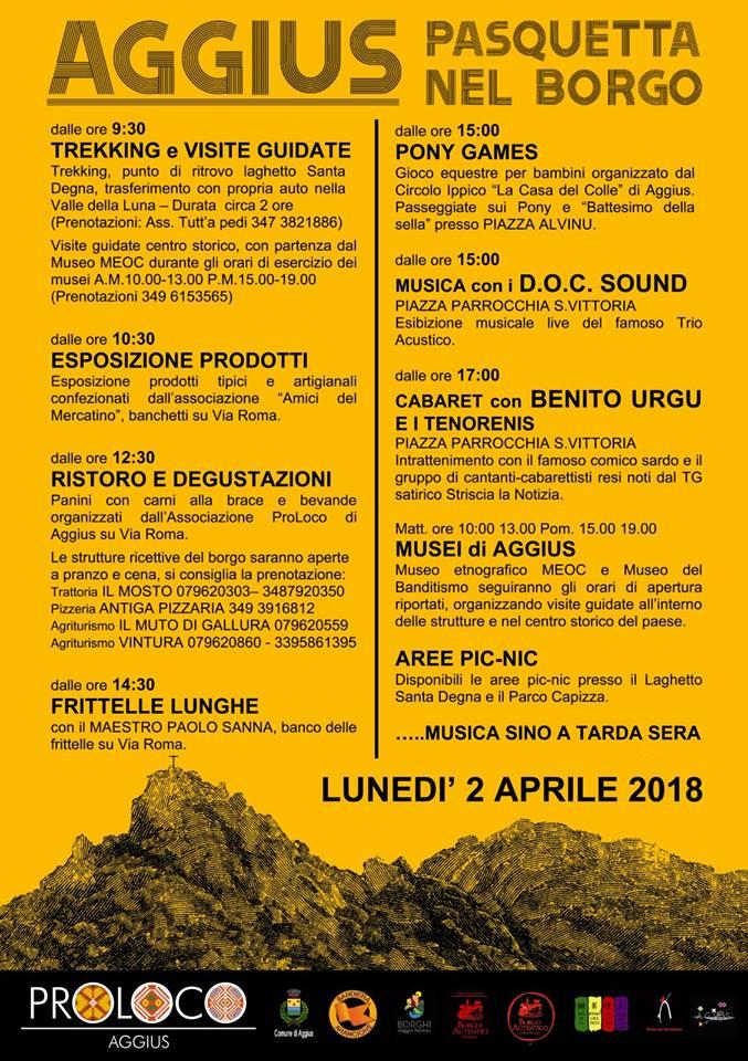 Pasquetta nel Borgo - Lunedì 2 aprile 2018 ad Aggius