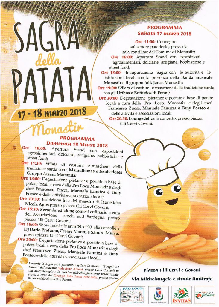 Sagra della Patata - A Monastir il 17 e 18 marzo 2018