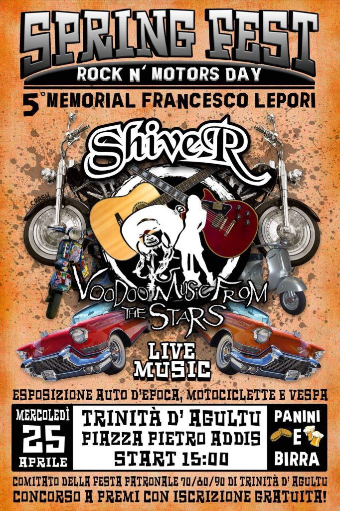 Spring Fest Rock N' Motors Day: 5° Memorial Francvesco Lepori - A Trinità D'Agultu il 25 aprile 2018