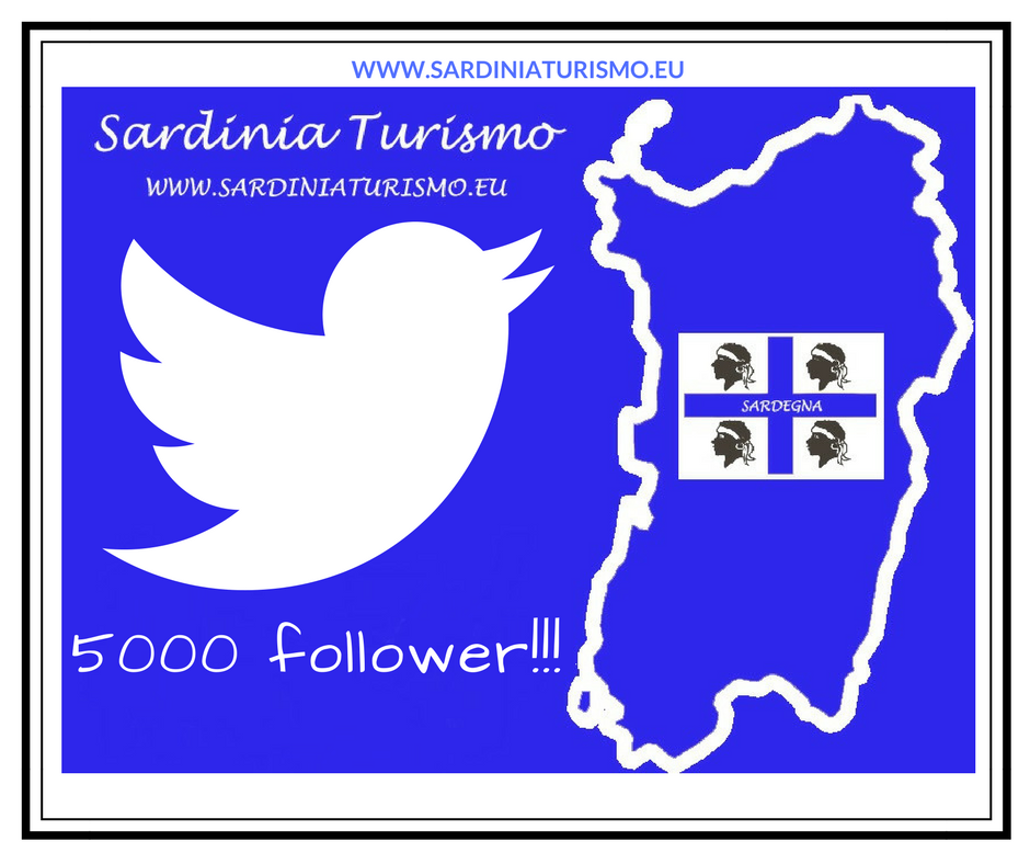 5000 follower su Twitter per Sardinia Turismo
