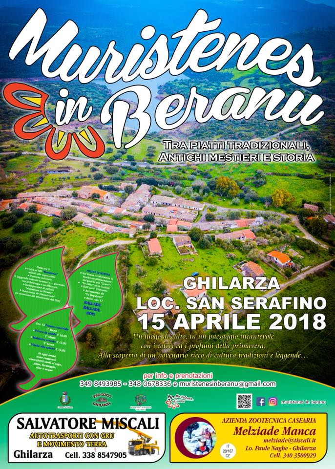 Muristenes in Beranu - A Ghilarza il 15 aprile 2018