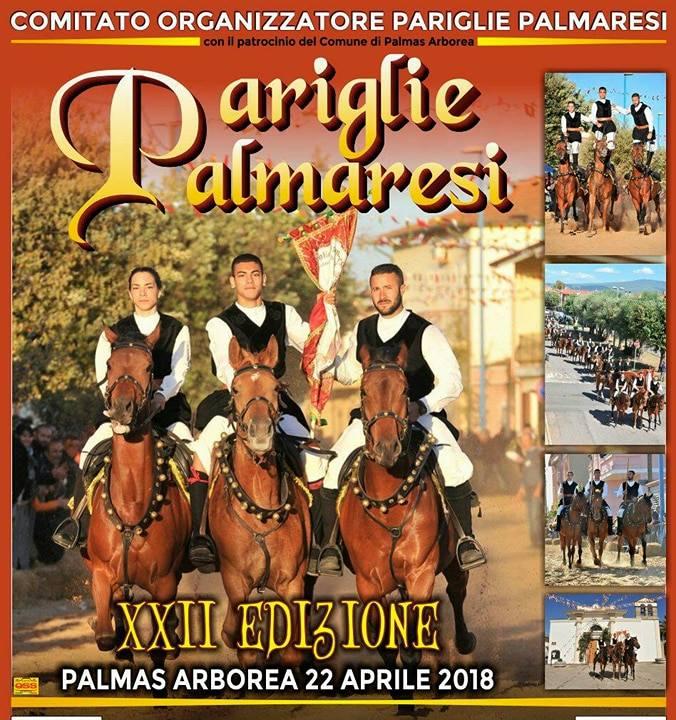 XXII edizione Pariglie Palmaresi - A Palmas Arborea il 22 aprile 2018