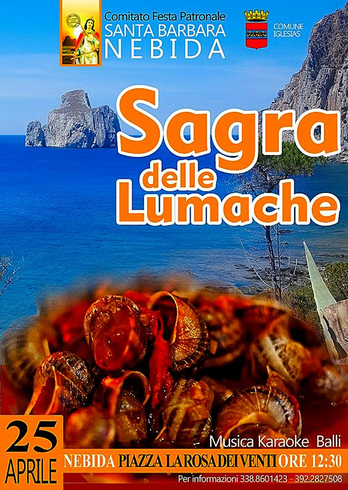 Sagra delle Lumache a Nebida - Mercoledì 25 aprile 2018