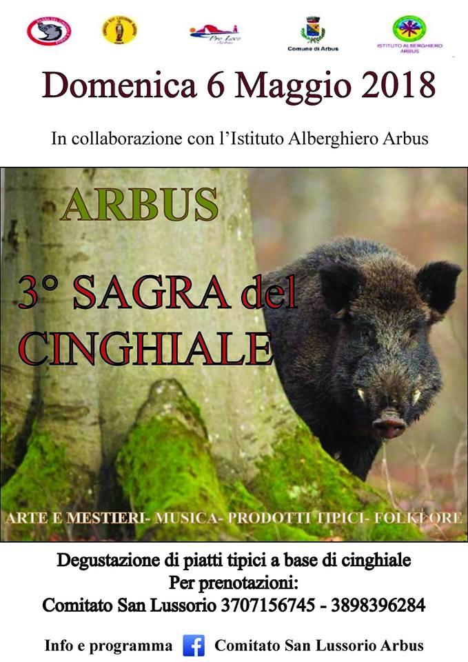 3^ Sagra del Cinghiale – Ad Arbus il 6 Maggio 2018