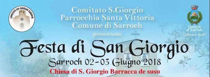 Festa di San Giorgio 2018 a Sarroch - Sabato 2 e domenica 3 giugno