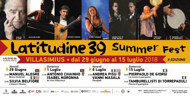 Latitudine 39 Summer Fest - A Villasimius dal 29 giugno al 15 luglio