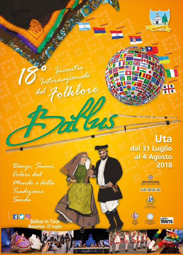 18^ edizione di Ballus, Incontro Internazionale del Folklore - Ad Uta dal 31 luglio al 4 agosto 2018