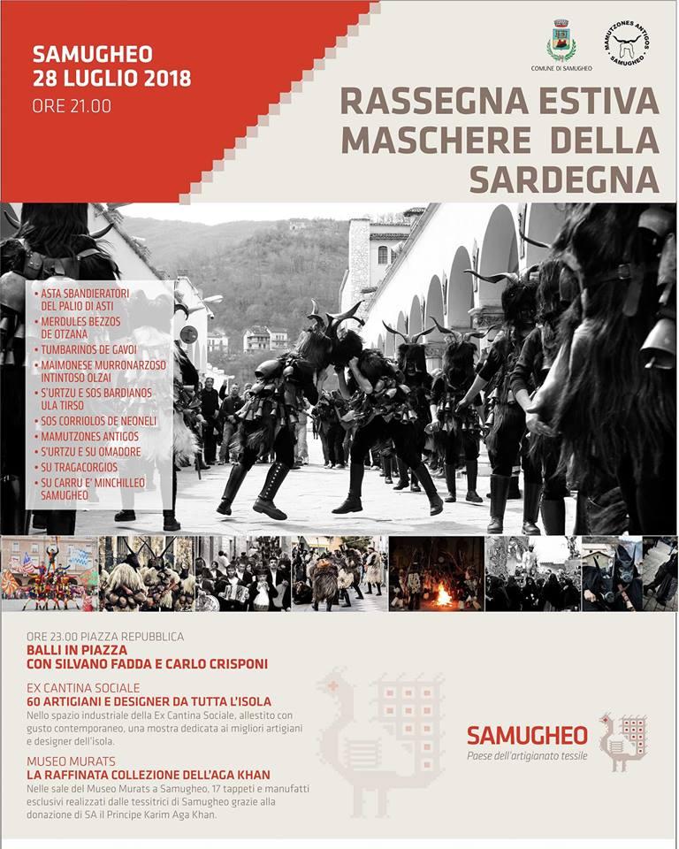 Il Carnevale estivo di Samugheo - Sabato 28 luglio 2018