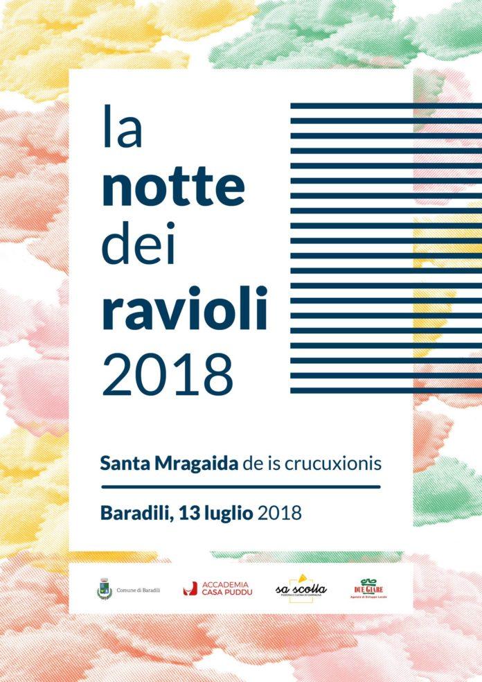 La notte dei ravioli - A Baradili il 13 luglio 2018