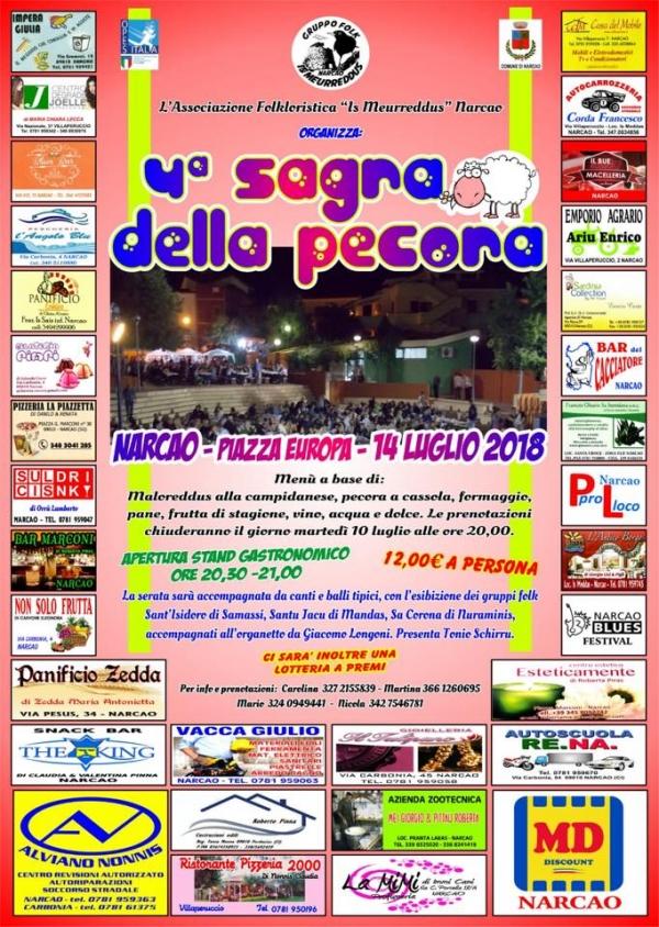 4^ Edizione della Sagra della Pecora a Narcao - Sabato 14 luglio 2018