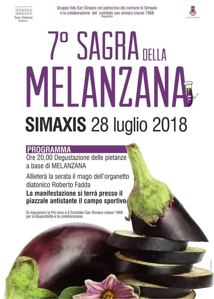 7^ Sagra della Melanzana a Simaxis - Sabato 28 luglio 2018