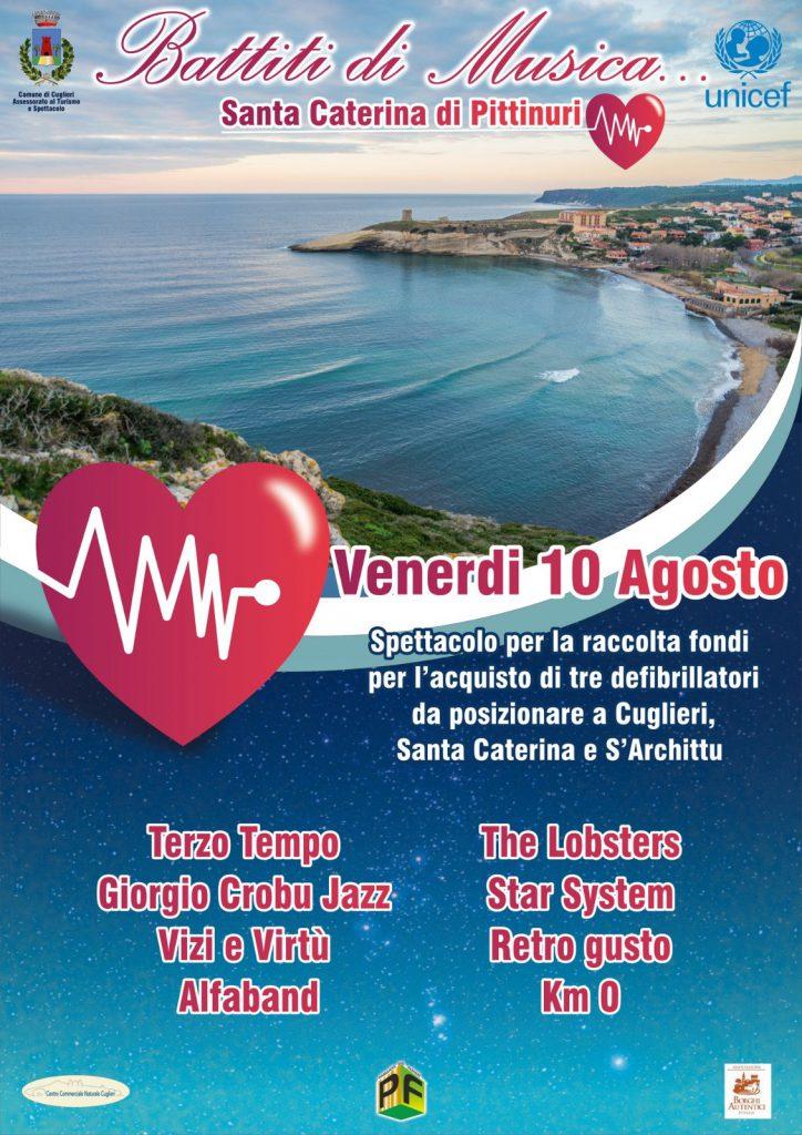 Battiti di musica - Venerdì 10 agosto 2018 a Santa Caterina di Pittinuri