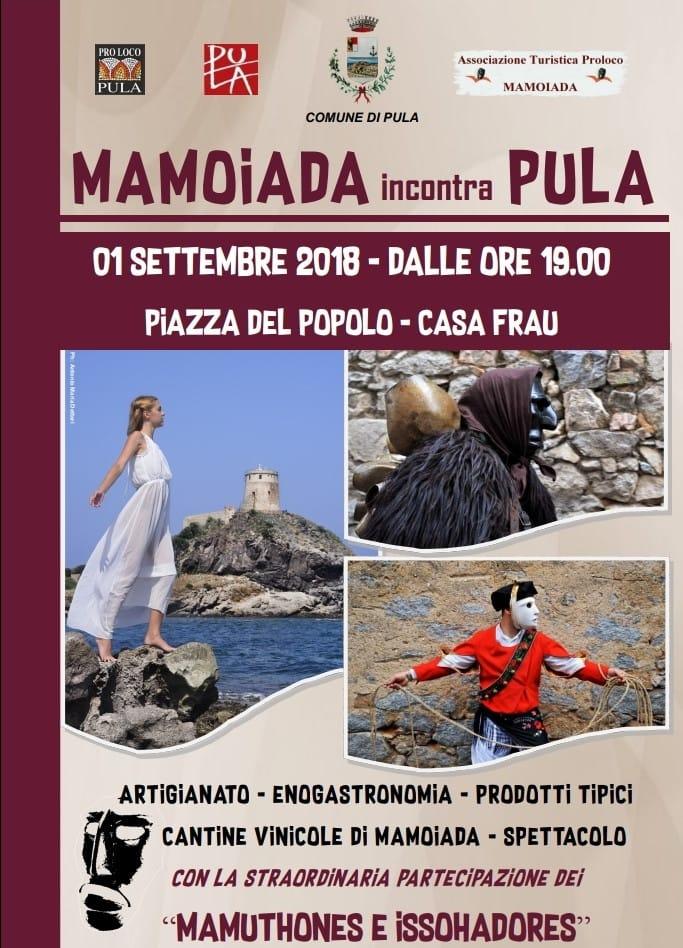 """""""Mamoiada incontra Pula"""" - Sabato 1 settembre 2018 a Pula"""