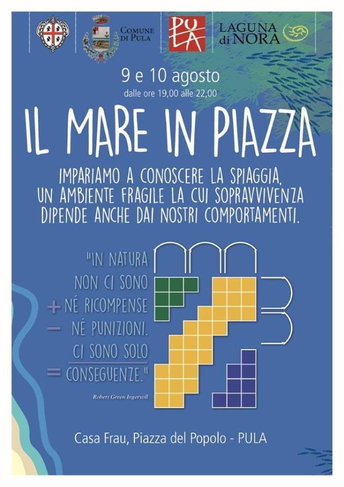 """""""Il mare in Piazza"""" - A Pula il 9 e 10 agosto 2018"""
