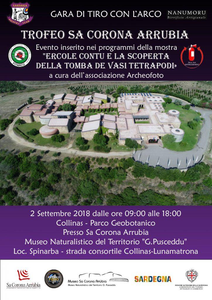 """""""Trofeo Sa Corona Arrùbia"""": Gara di tiro con l'arco - Domenica 2 settembre 2018"""