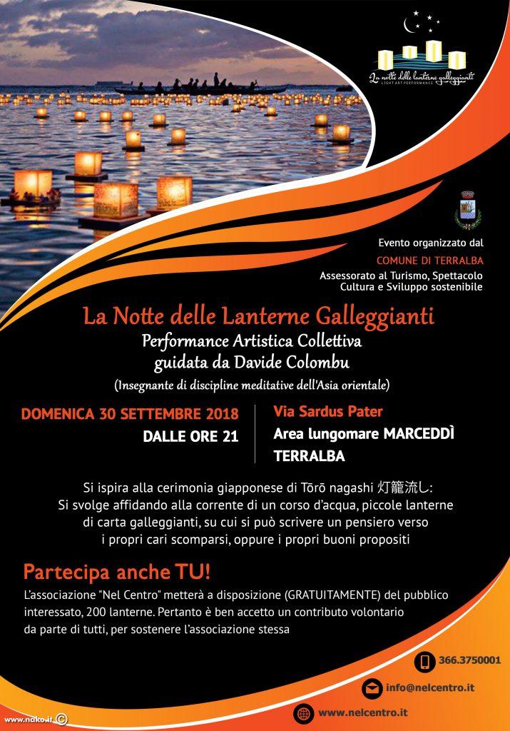 La notte delle lanterne galleggianti a Terralba - Domenica 30 settembre 2018