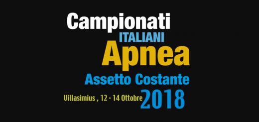 Campionati Italiani Outdoor di apnea in assetto costante - A Villasimius dal 12 al 14 ottobre 2018