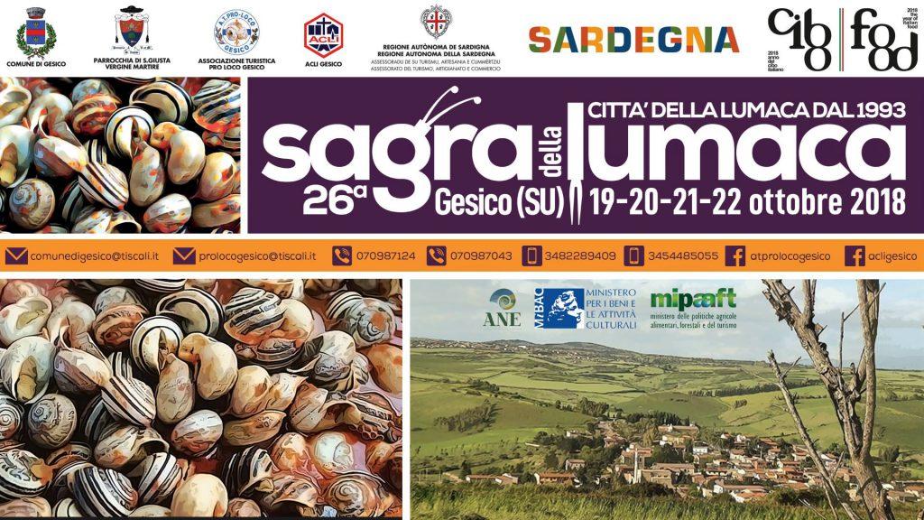 Sagra della lumaca 2018 a Gesico - Dal 19 al 22 ottobre