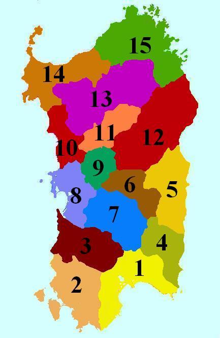 Le Regioni della Sardegna - Geografia