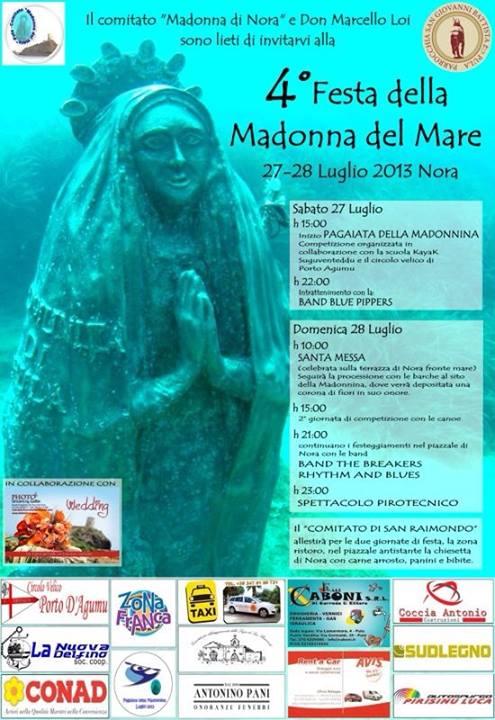 Festa della Madonna del Mare a Nora - 27 e 28 Luglio 2013
