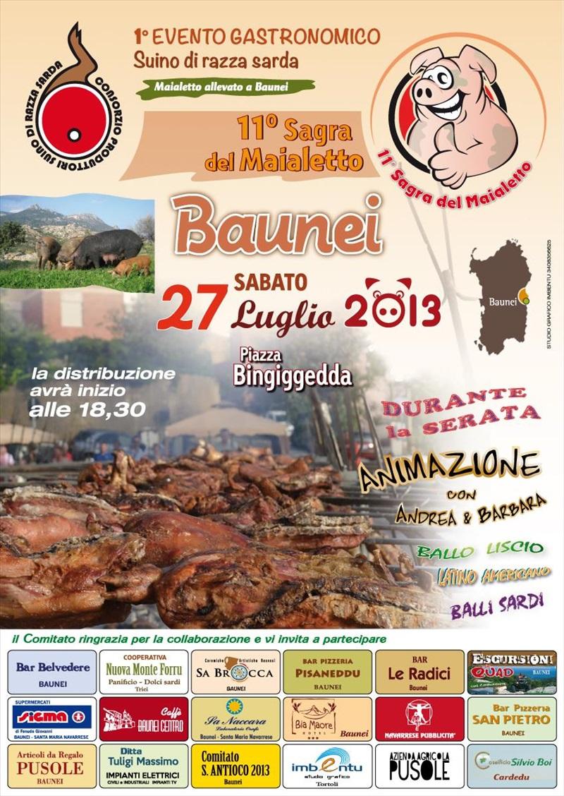 11^a Sagra del maialetto a Baunei