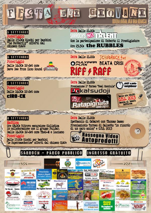 Festa dei Giovani 2013 – A Sarroch