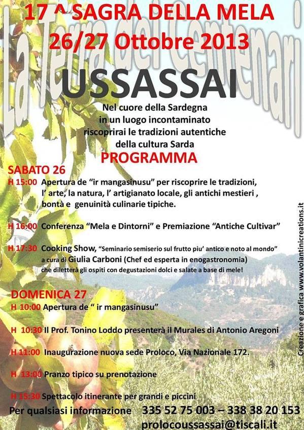 Sagra della Mela 2013 - A Ussassai il 26 e 27 Ottobre