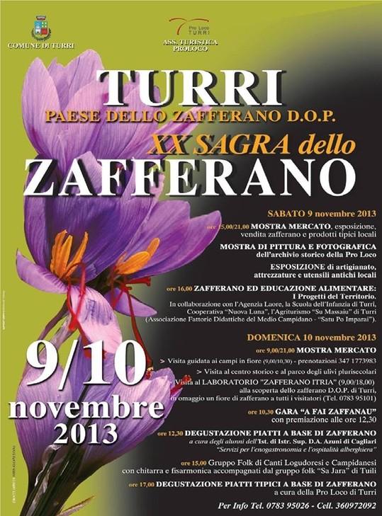 XX Sagra dello Zafferano - A Turri il 9 e 10 Novembre 2013