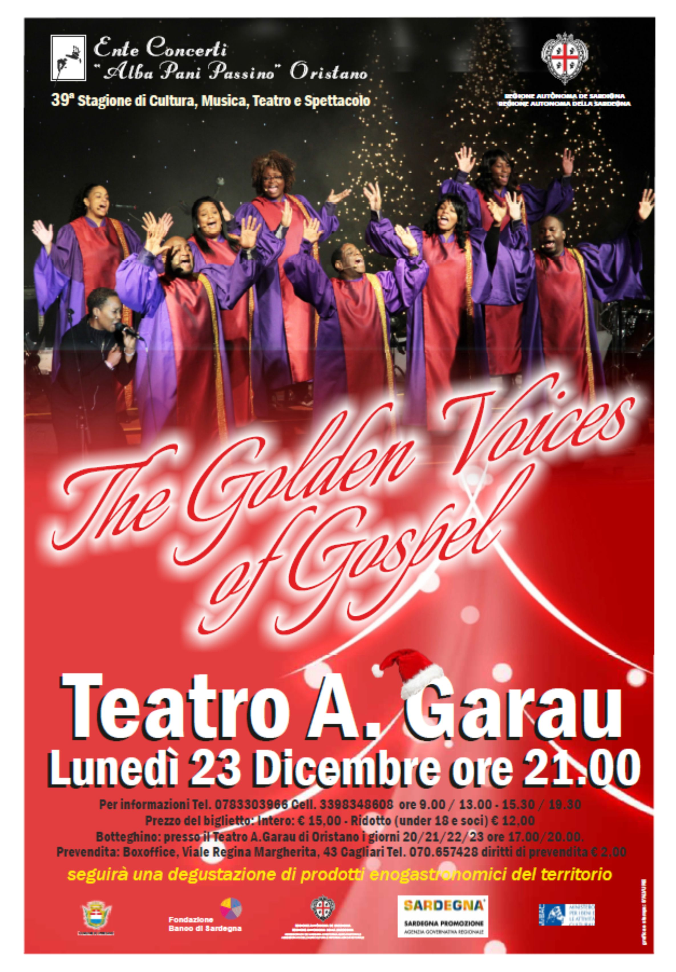 The Golden Voices of Gospel - Lunedì 23 Dicembre a Oristano