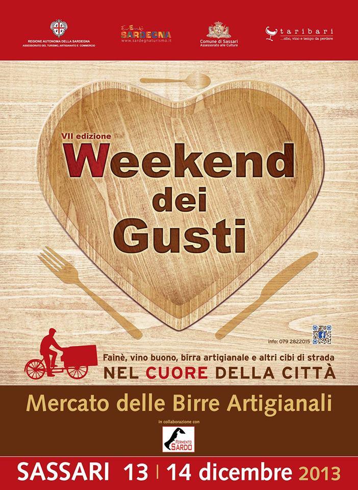 """""""Weekend dei Gusti"""" - A Sassari dal 13 al 15 Dicembre 2013"""