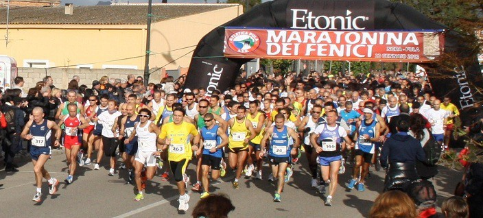La partenza della Maratonina dei Fenici 2013