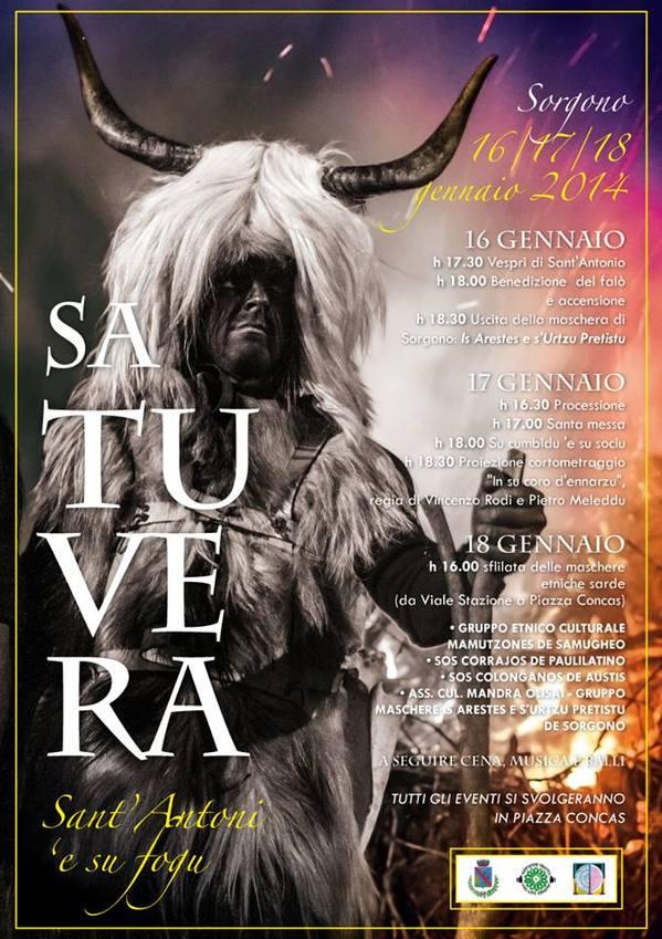 Fuoco di Sant'Antonio 2014 Sorgono: Sa Tuvera