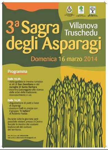 Sagra degli Asparagi 2014 a Villanova Truschedu