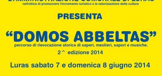 """""""Domos Abbeltas"""" a Luras - Sabato 7 e Domenica 8 Giugno 2014"""