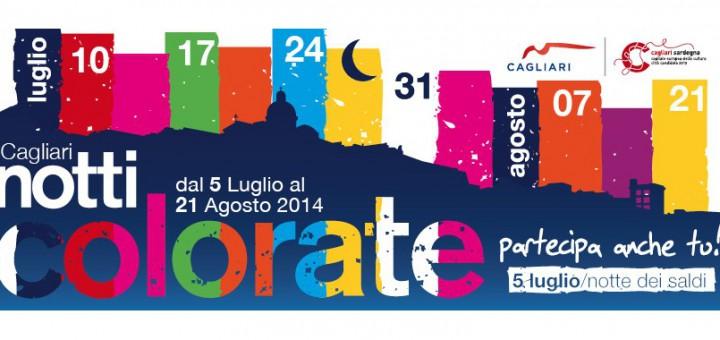 """Notti Colorate 2014 a Cagliari - Il 21 Agosto la """"Notte Gialla"""""""