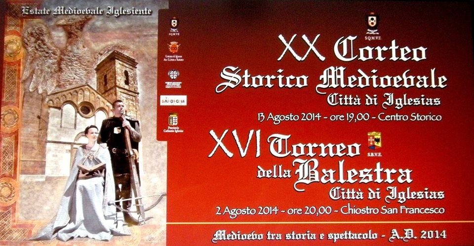 XVI Torneo della Balestra Città di Iglesias - Sabato 2 Agosto 2014