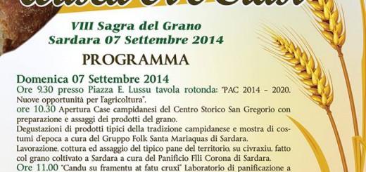 """8^a edizione della Sagra del Grano - """"Su trigu: ariseu, oi e crasi"""" - Domenica 7 Settembre a Sardara"""