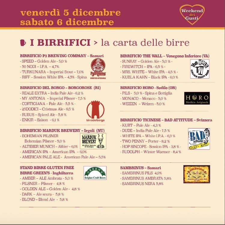 Birrifici Weekend del Gusto a Sassari