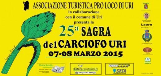 25^a Sagra del Carciofo di Uri – Sabato 7 e Domenica 8 Marzo 2015