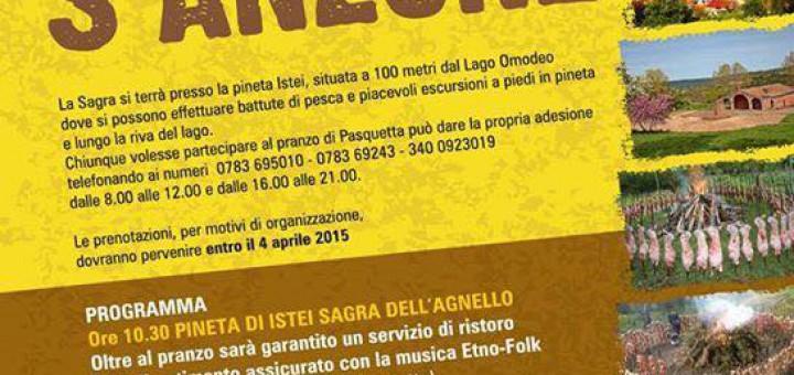 Sagra de s'Anzone 2015 a Bidonì - Lunedì 6 Aprile 2015