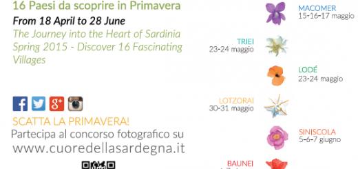 Primavera nel Marghine, Ogliastra e Baronia 2015 - Gli appuntamenti