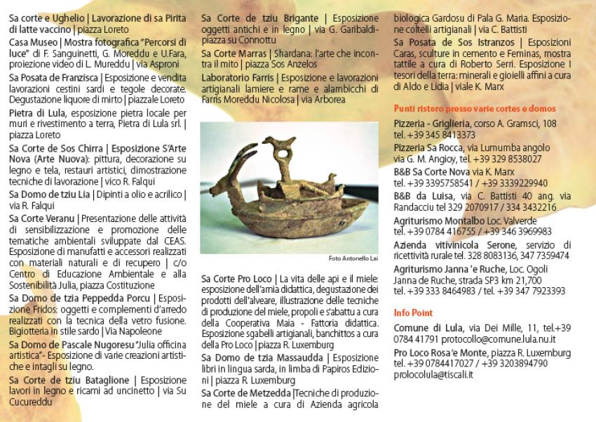 Autunno in Barbagia 2015 a Lula - Programma