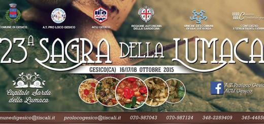 23^a Sagra della Lumaca a Gesico - Sabato 17 e Domenica 18 Ottobre 2015