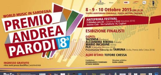 """8^a edizione """"Premio Andrea Parodi"""" - A Cagliari dall'8 al 10 Ottobre 2015"""