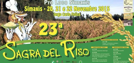 XXIII Sagra del Riso a Simaxis - Dal 20 al 22 Novembre 2015
