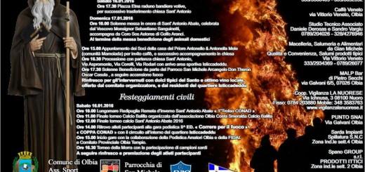 Festa di Sant'Antonio Abate a Olbia - Il 16 e 17 Gennaio 2016