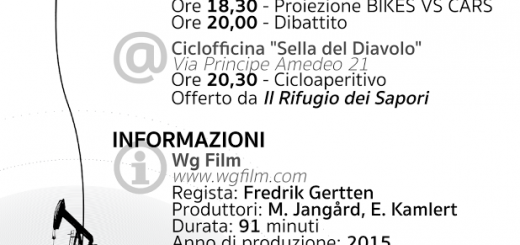 Giovedì 24 Marzo 2016 verrà proiettato a Cagliari il documentario di Bikes vs Cars