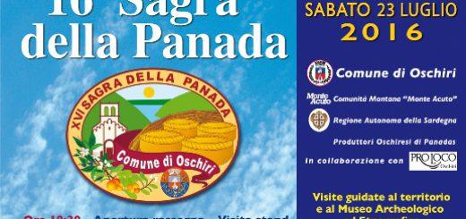 """16^ edizione della """"Sagra della Panada"""" - Ad Oschiri il 23 luglio 2016"""