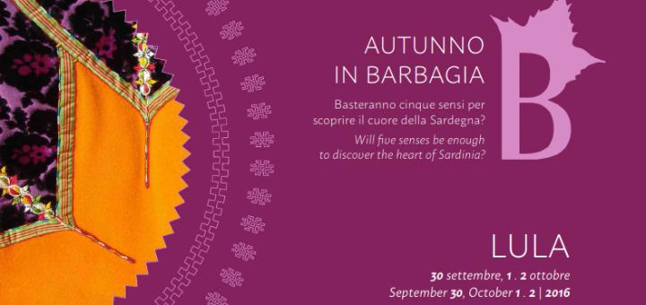 Autunno in Barbagia a Lula - Dal 30 settembre al 2 ottobre 2016
